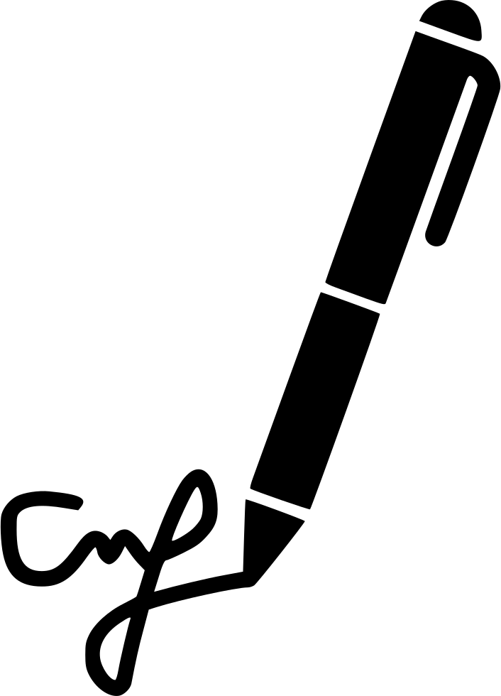 svg free download Contract write agreement writing. Writer clipart signature hand