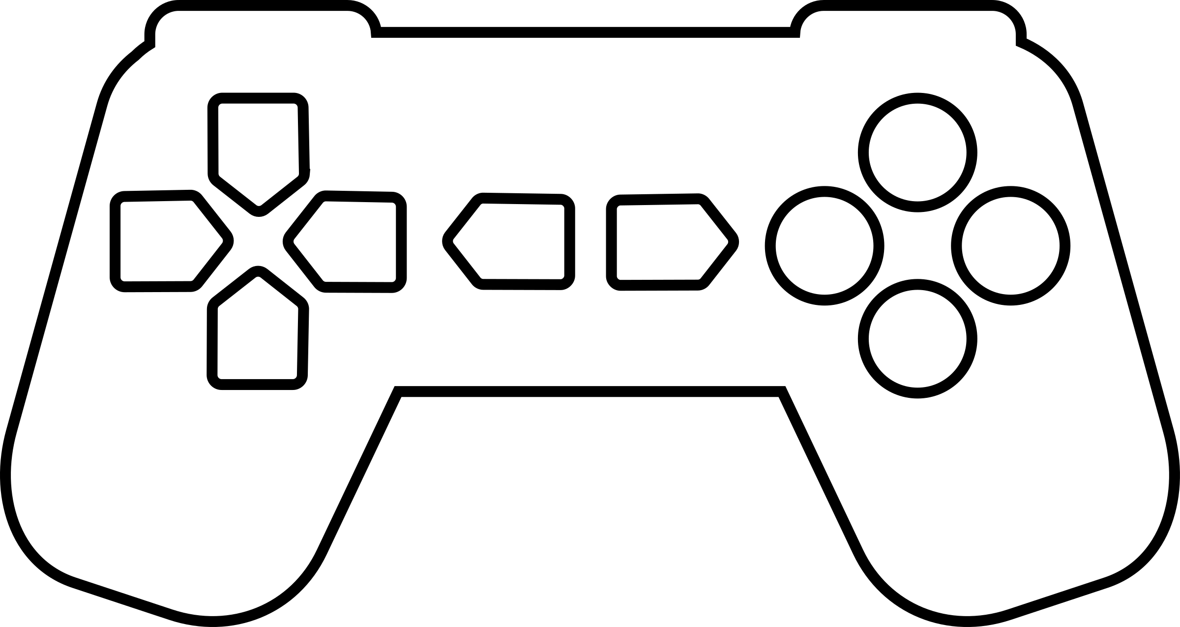 download Controller outline big image. Video game clipart black and white
