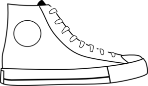graphic freeuse library Tennis shoe free on. Converse clipart