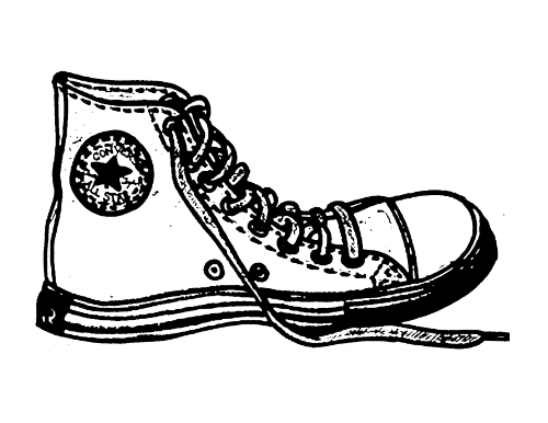 vector freeuse stock Colorful sneakers . Converse clipart.