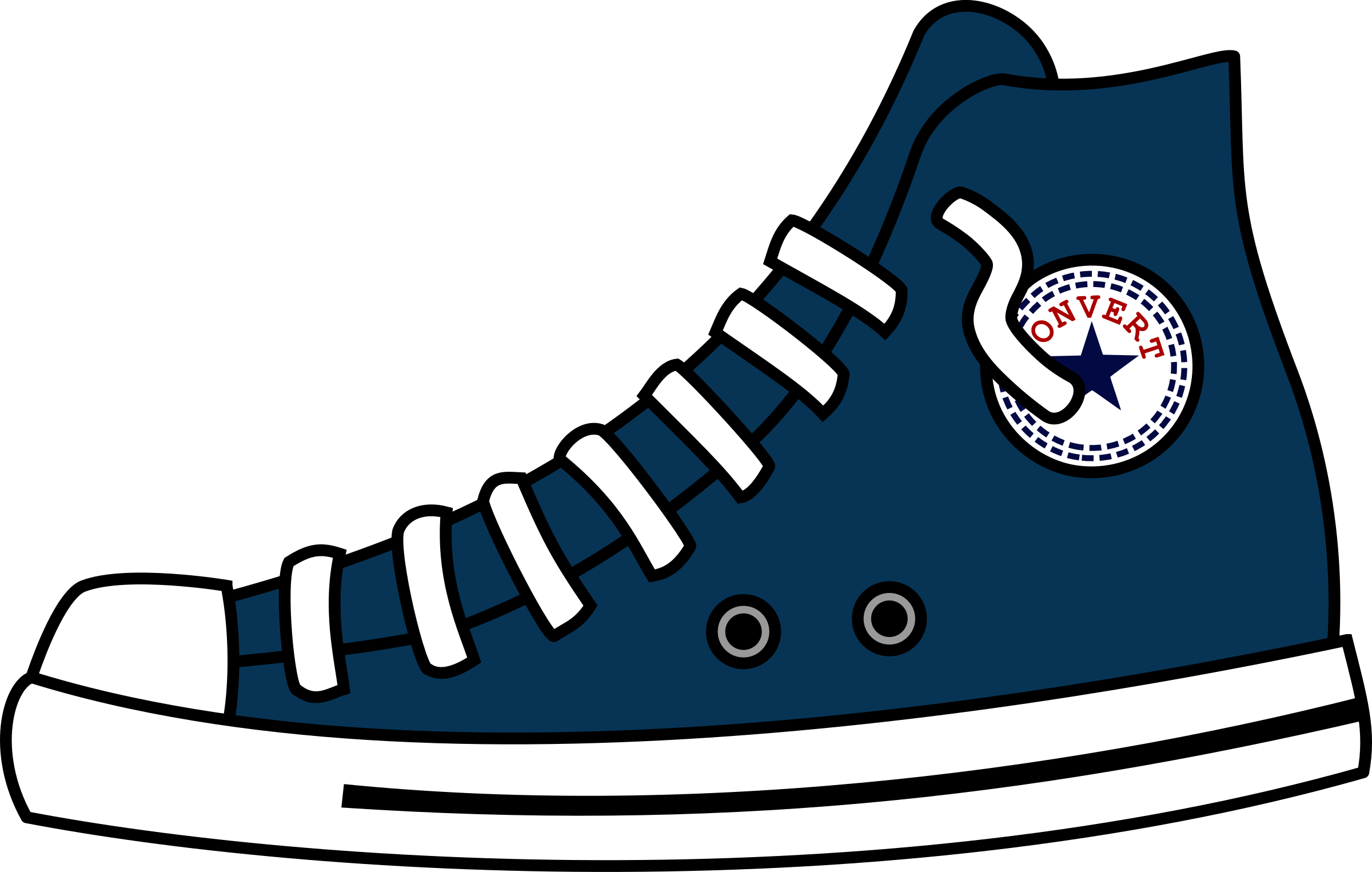 clipart stock Converse clipart. High top shoes big.