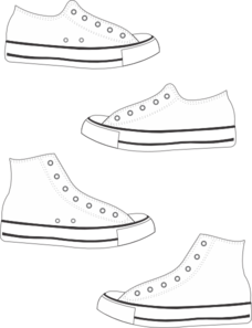 image freeuse library Tennis shoe . Converse clipart