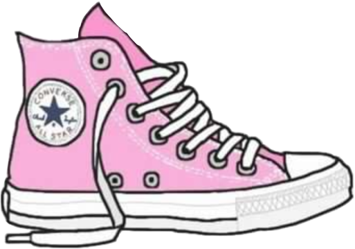banner black and white stock Converse clipart. Tumblr pink zapatillas freetoedit.