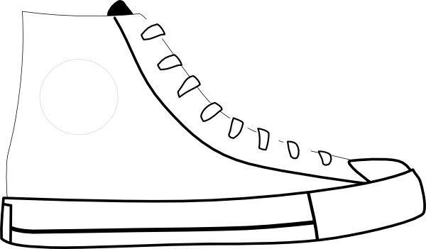 svg black and white stock White Shoe Clip Art at Clker