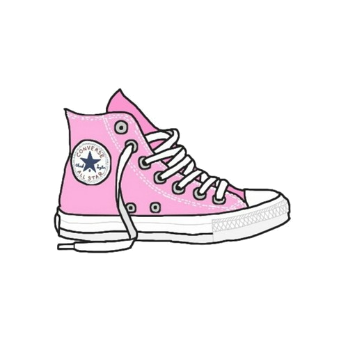 clip transparent download Tumblr google paie ka. Drawing sneakers converse