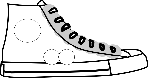 graphic free stock Sneaker free clipartix. Tennis shoe clipart black and white