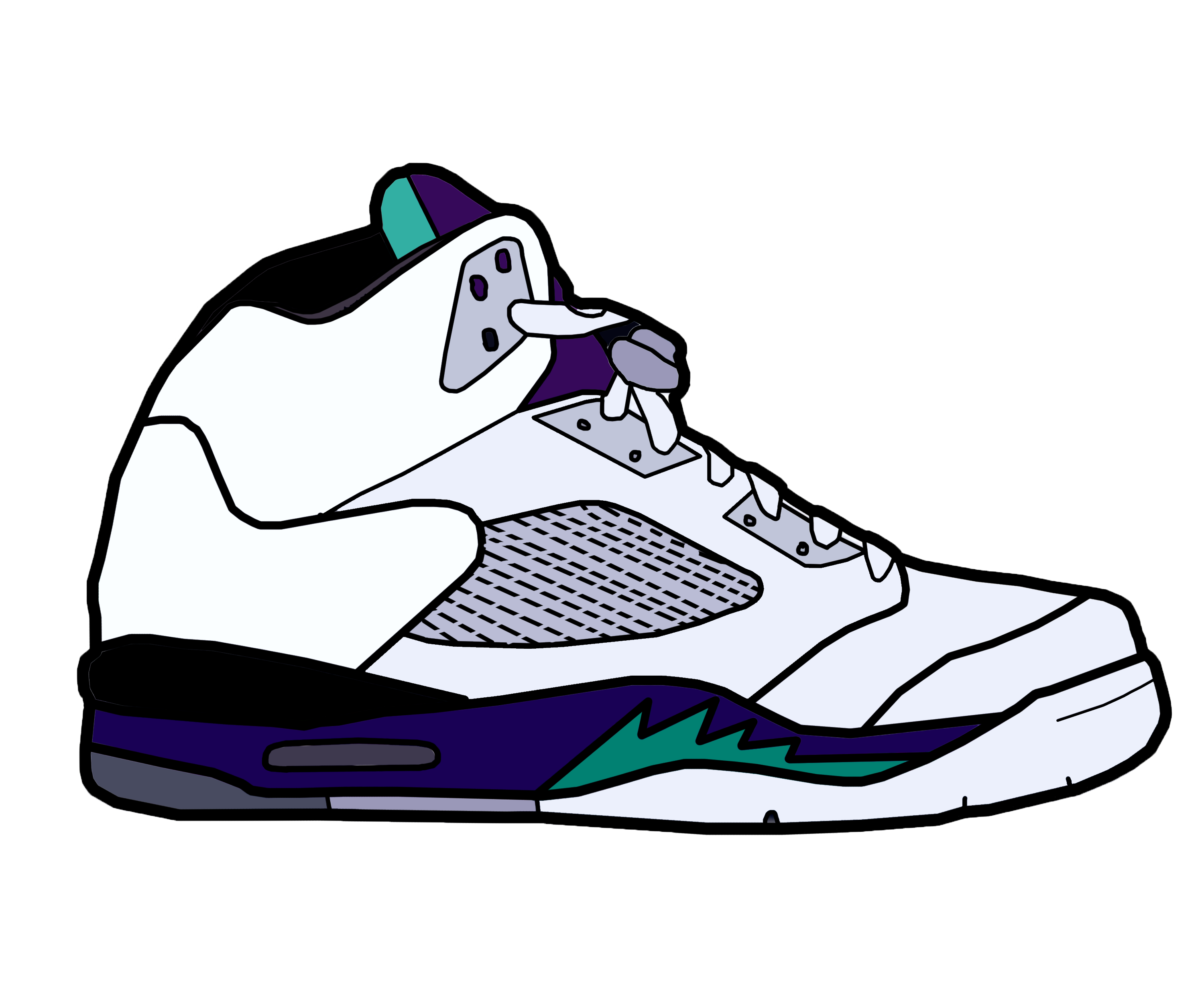 clip art library library Drawing sneakers basketball shoe. Jordan vectors provincial archives