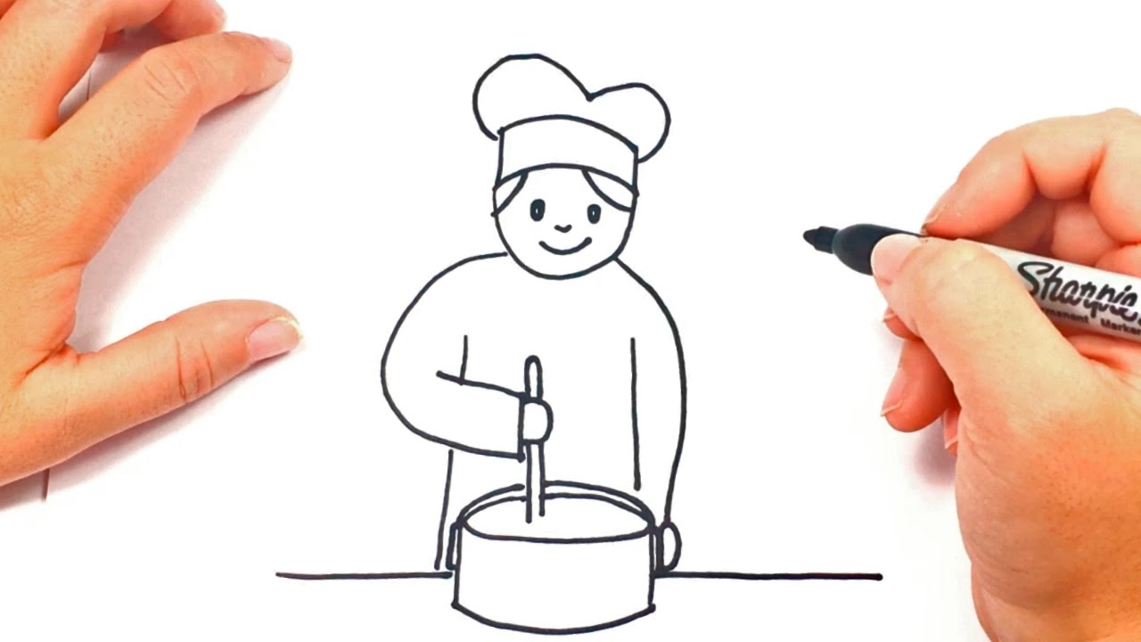 image royalty free stock How to draw a. Baking drawing kid