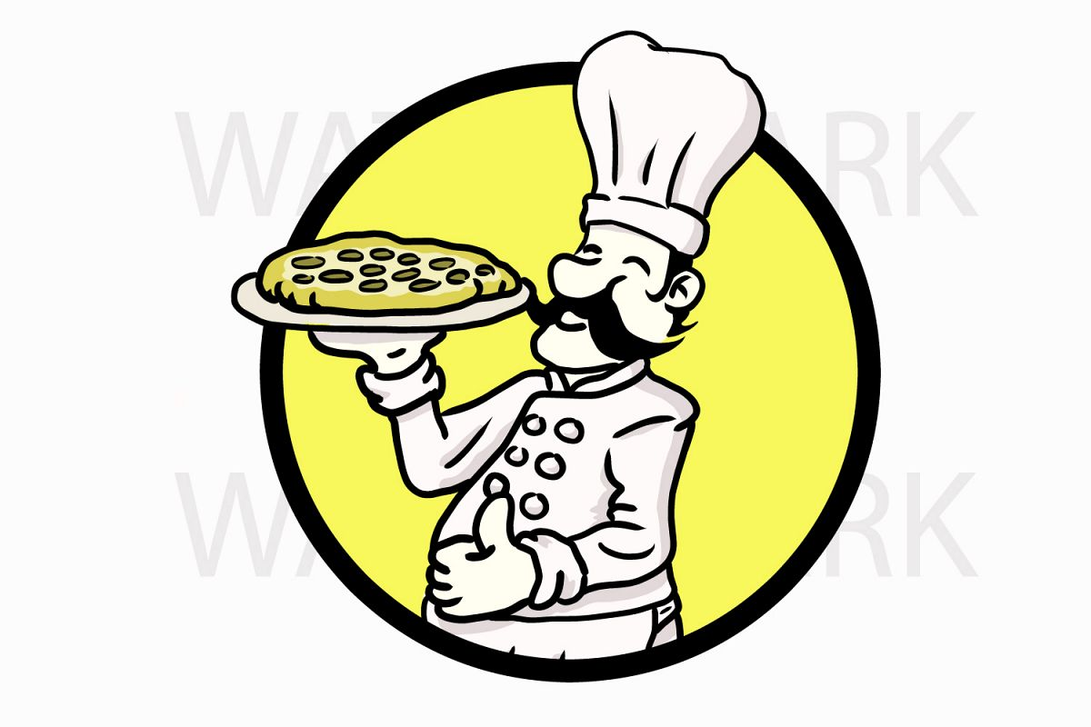 clip art transparent Holding pepperoni pizza in. Cook drawing logo