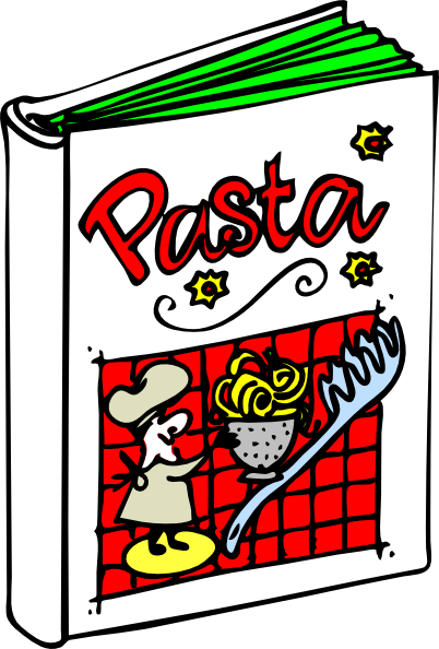 svg royalty free Pasta clip art at. Cookbook clipart