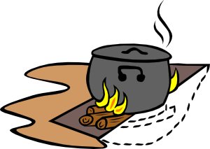 picture stock Campfires and cooking cranes. Cooked clipart.