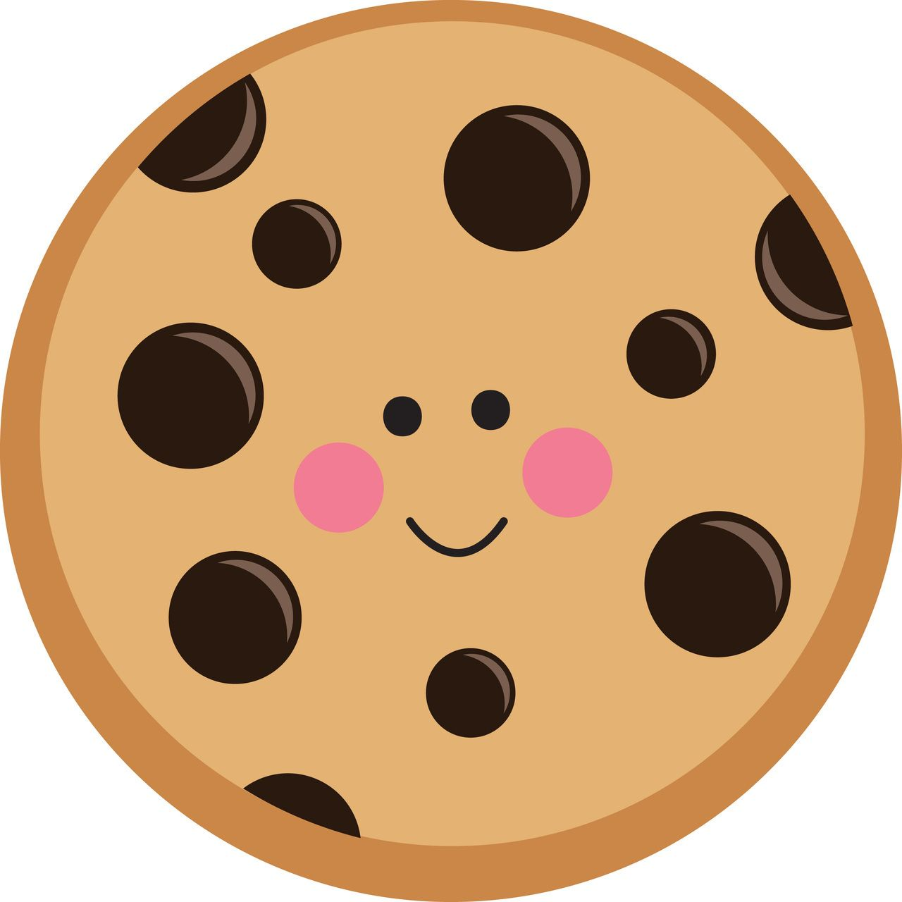 picture stock Cookie clipart. Cute chocolate chip off