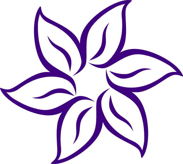 vector freeuse library Cartoon flowers clip art. Violet clipart sketch.