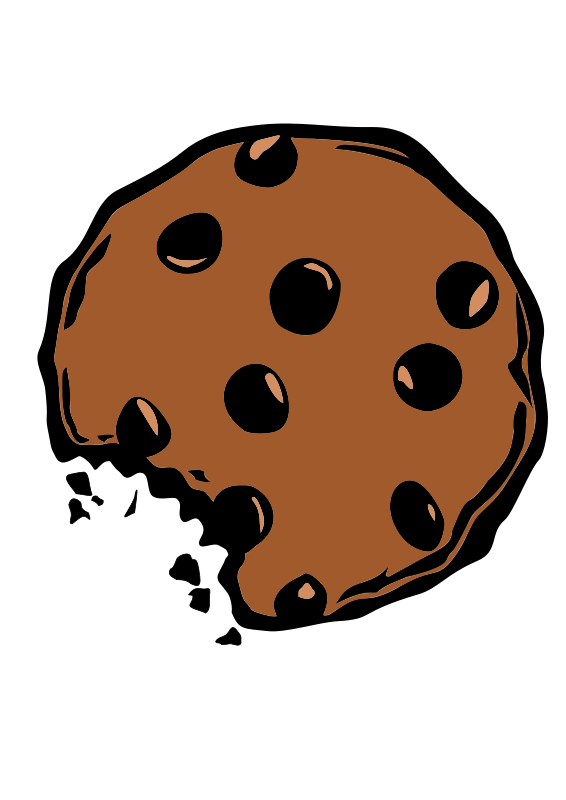 image free Who stole the cookie. Bite vector biscuit