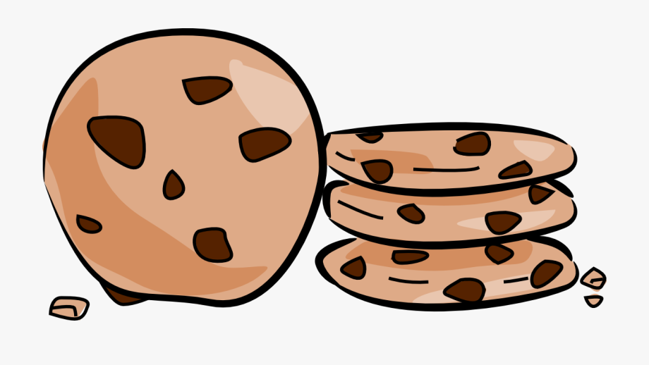 svg transparent Cookie image of . Chocolate chip cookies clipart