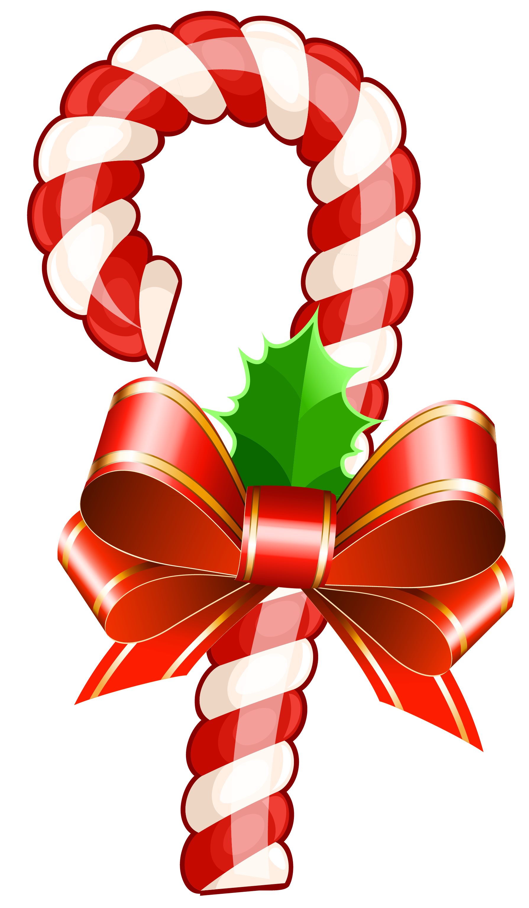 banner free library Large transparent christmas cane. Vector candy vintage