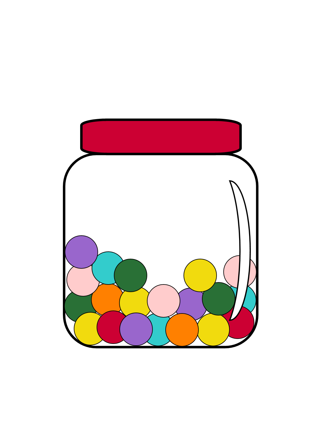 jpg library download Gumball machine clipart outline. Candy skip counting new