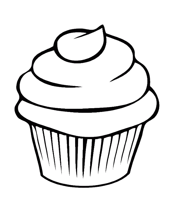 transparent download Pretty Cupcake Coloring Pages