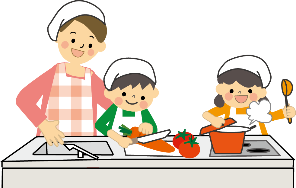 clip freeuse library  collection cooking high. Clipart of kids