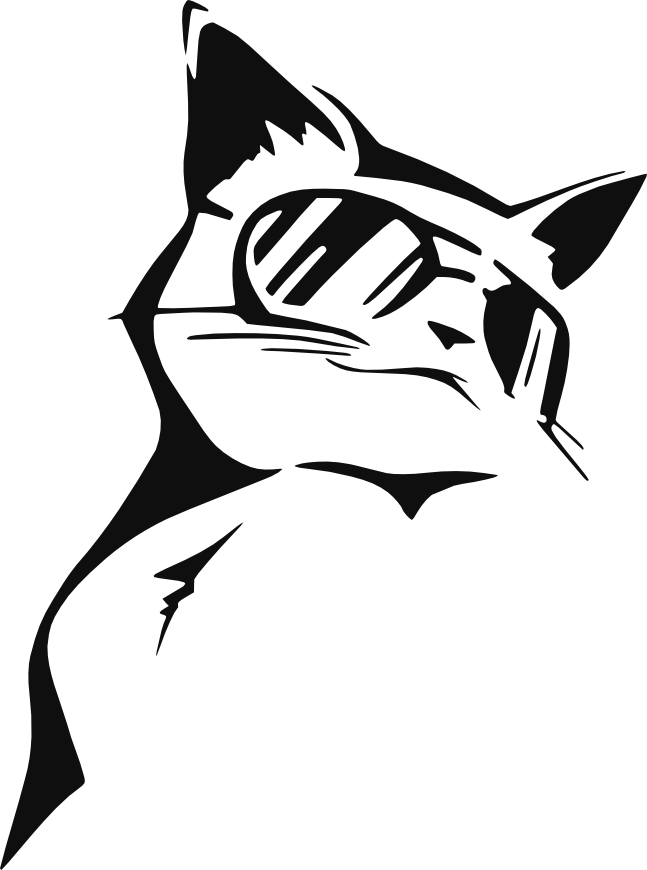 png transparent download Stencil CoolCat by