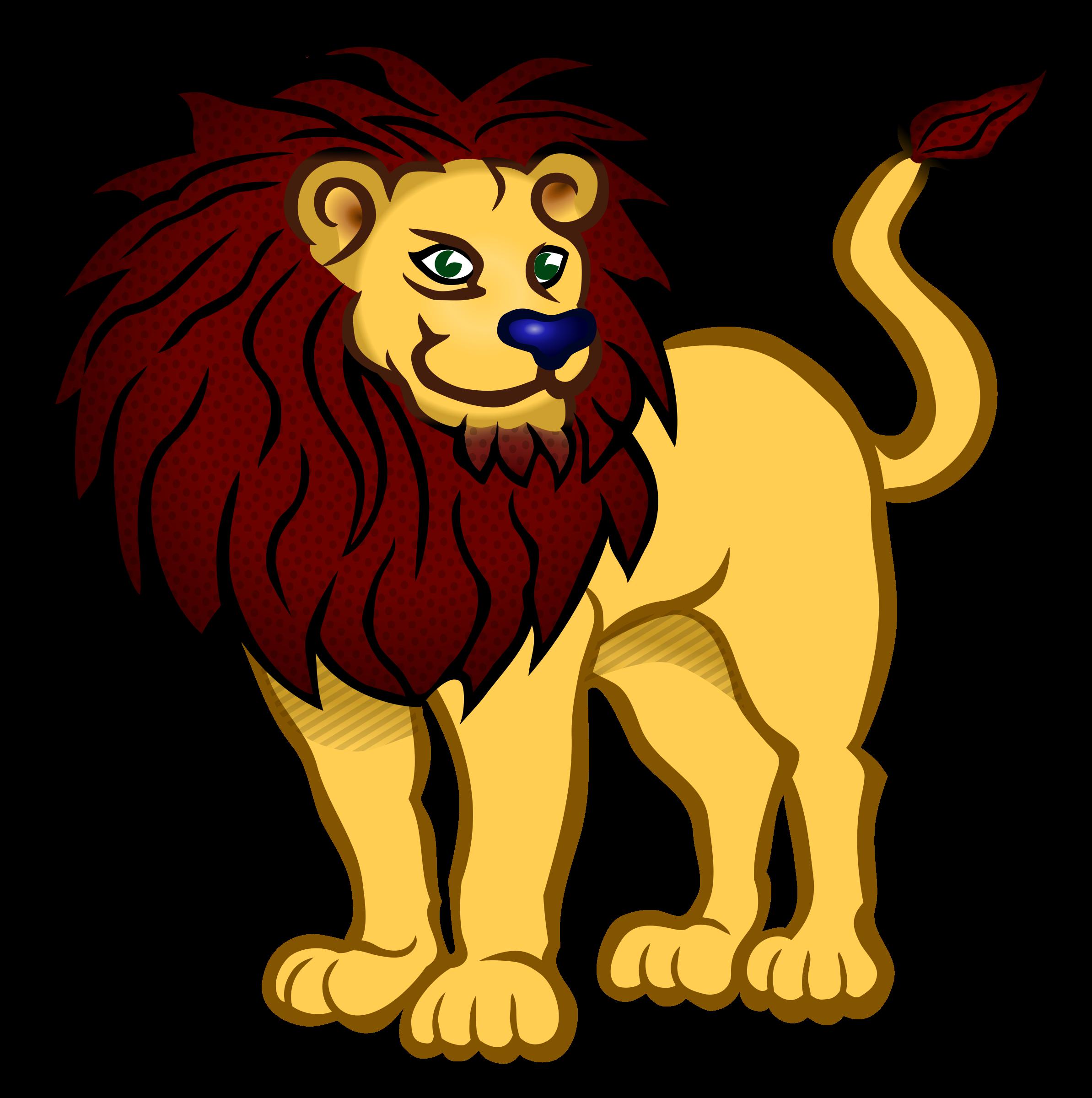 image download L clipart lion. Coloured big image png.