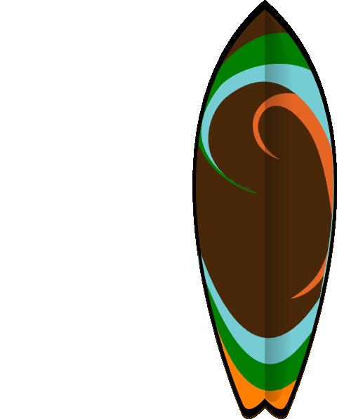 vector royalty free library Retro Surfboard Clip Art at Clker