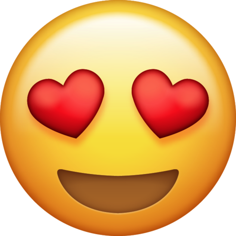 clip royalty free library Heart Eyes Emoji Png Transparent