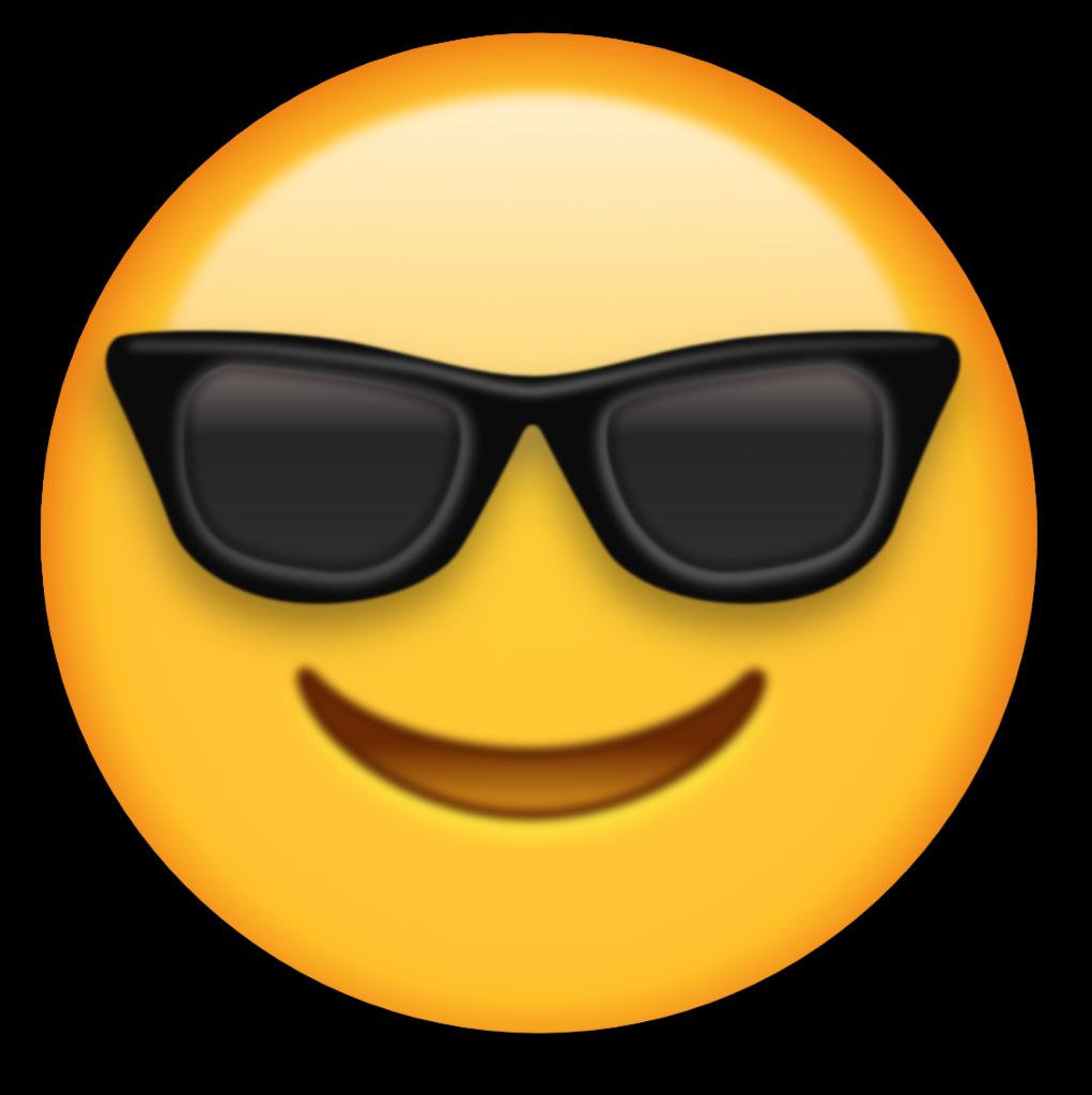 graphic free stock Emoji clipart. Sunny cool emojis pinterest