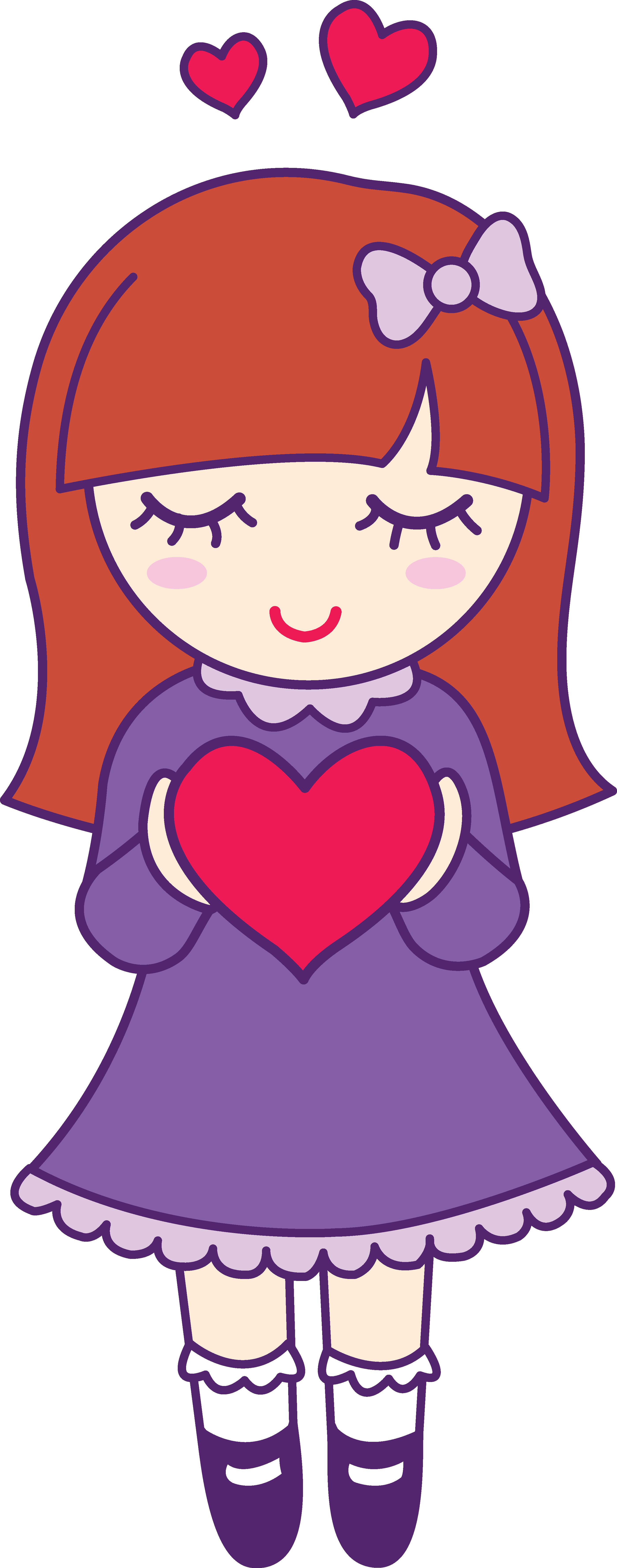 clipart transparent Girl panda free images. Girly clipart heart