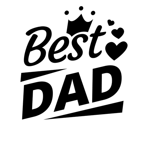 royalty free library Best dad fathers day emblem