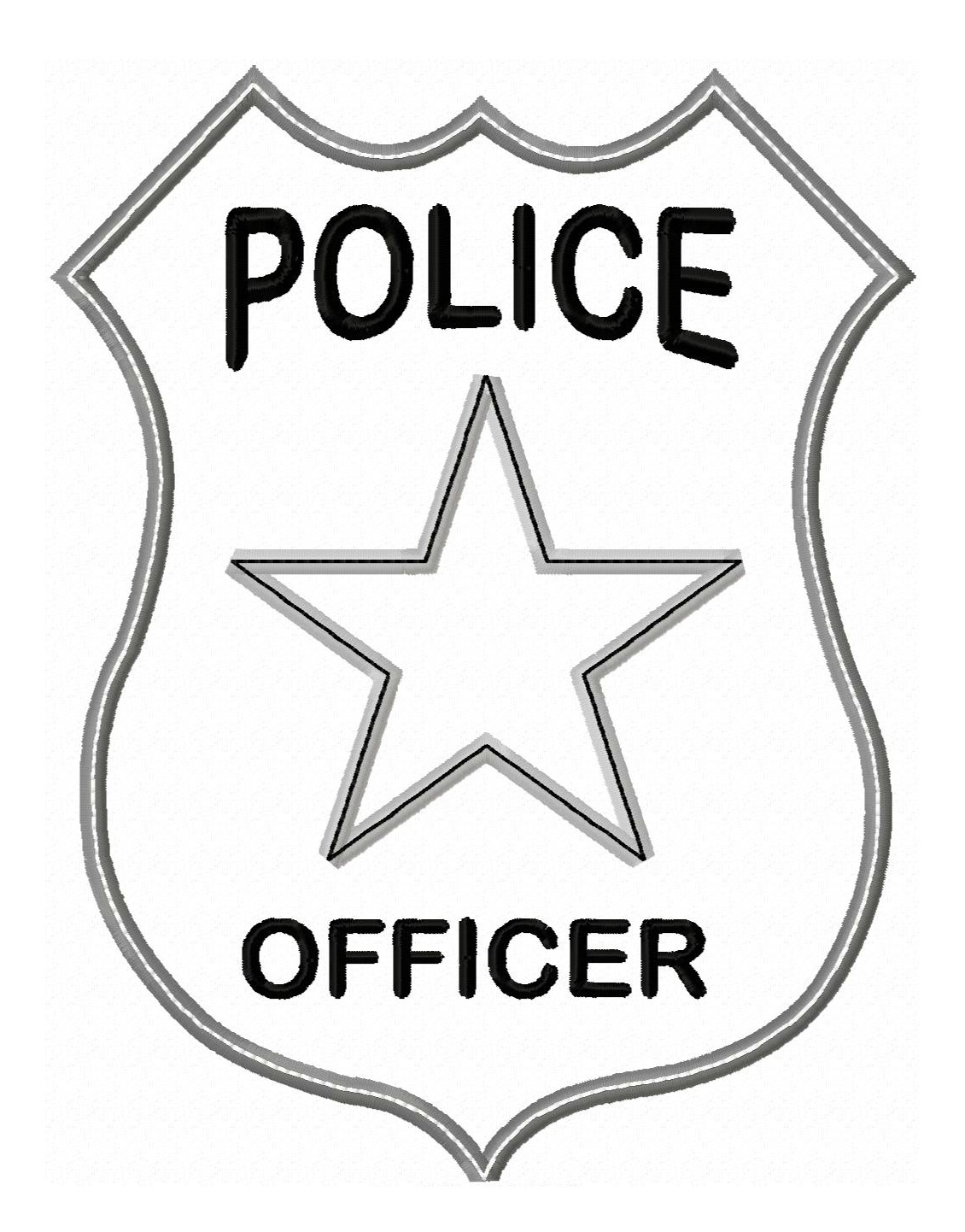picture black and white download Best police clipartion com. Cop badge clipart