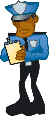 picture transparent stock Cop clipart. Writing ticket the arts.
