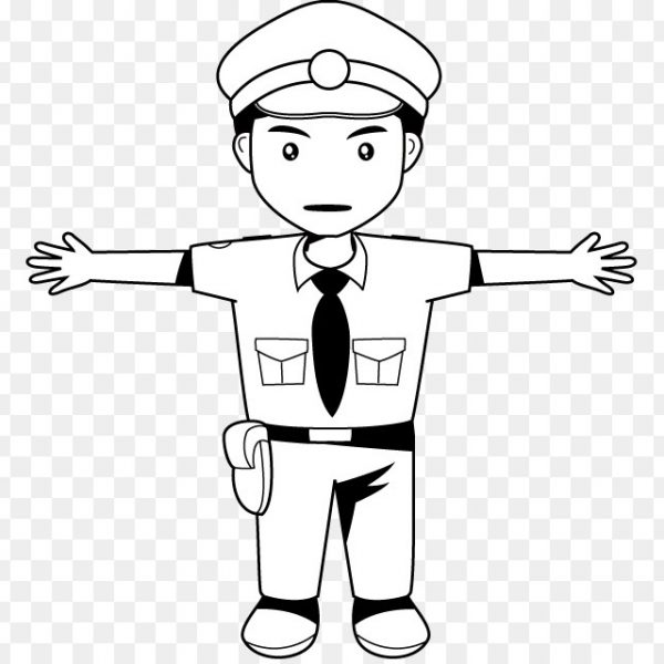 svg black and white download Clip art police officer. Cop clipart black and white