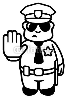 svg free library Police officer panda . Cop clipart black and white.
