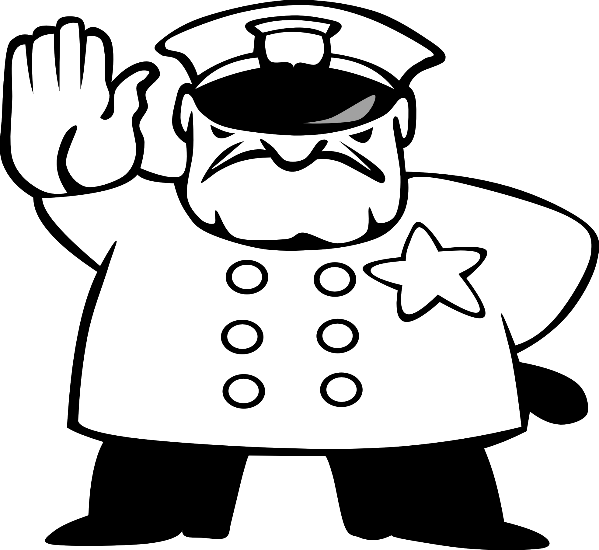 clipart free download Police man panda free. Cop clipart black and white