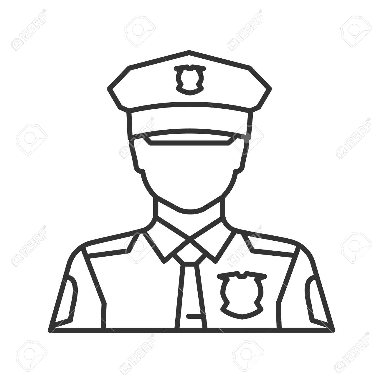 vector Police uniform at paintingvalley. Cop drawing.