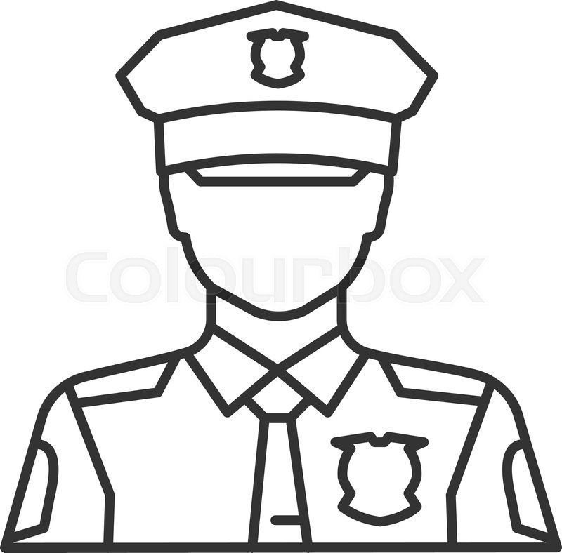 svg black and white Hat free download best. Cop drawing.
