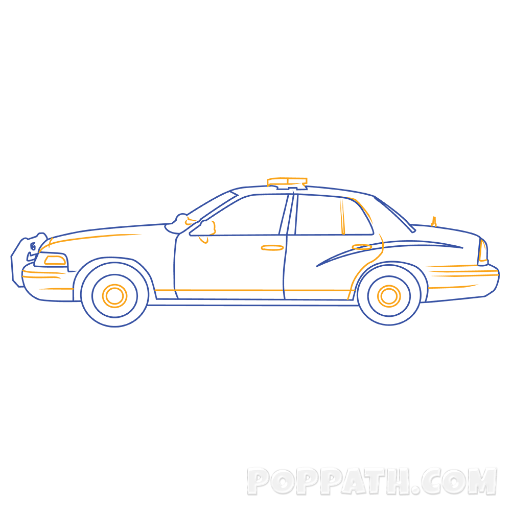 transparent stock How To Draw A Police Car