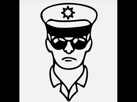 picture How to draw police. Cop drawing.