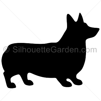 picture royalty free library Corgi clipart. Silhouette clip art download