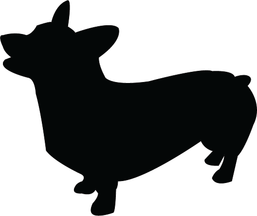 banner free library Corgi clipart. Silhouette clip art at.
