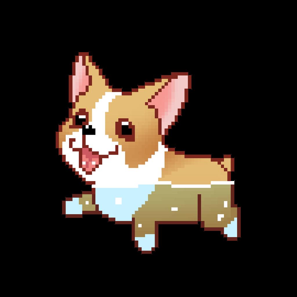 clipart free download tumblr pixel corgi dog dogs swim