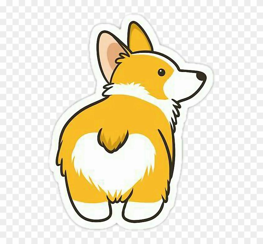clip art download Stickers cute dog yellow. Corgi clipart transparent tumblr