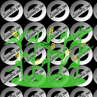 clip art black and white download Corn Stalks Stencil for Classroom