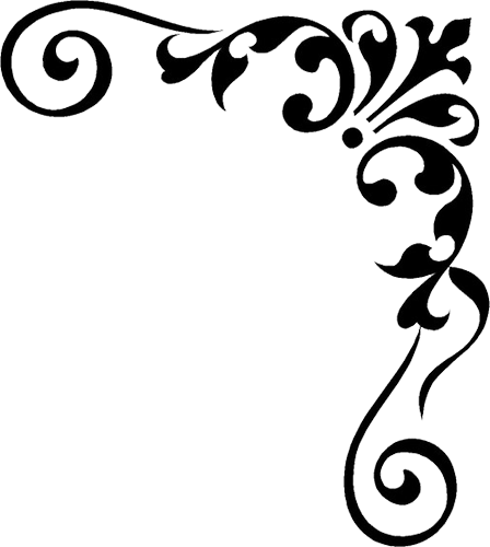 clipart library download Damask free on dumielauxepices. Corner clipart.