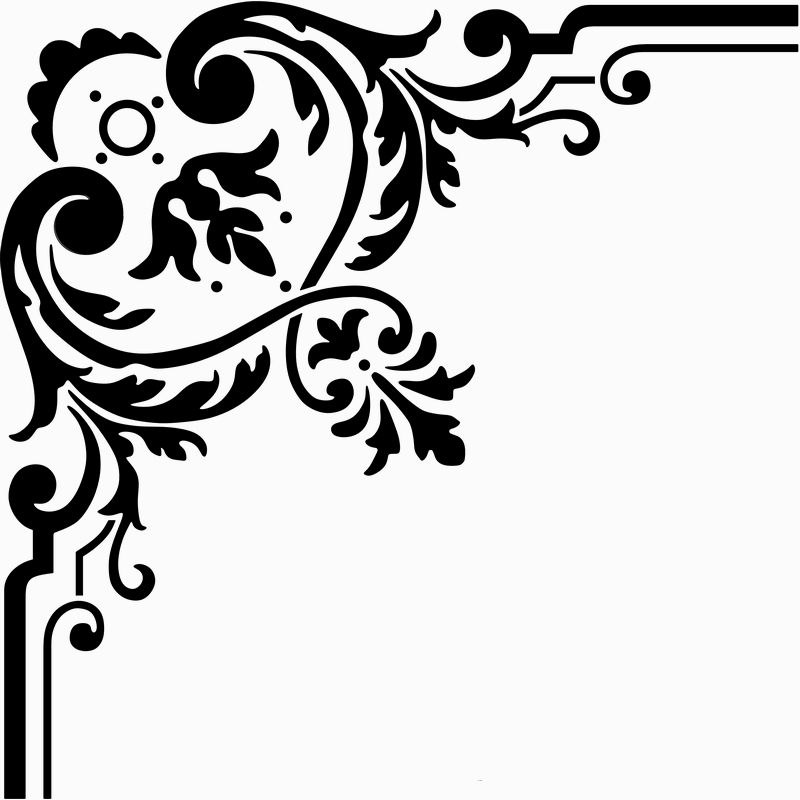 picture library library Corner clipart. Free borders download clip