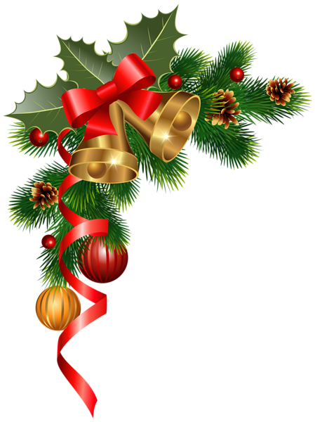 image freeuse Christmas Corner Decoration PNG Clipart Image