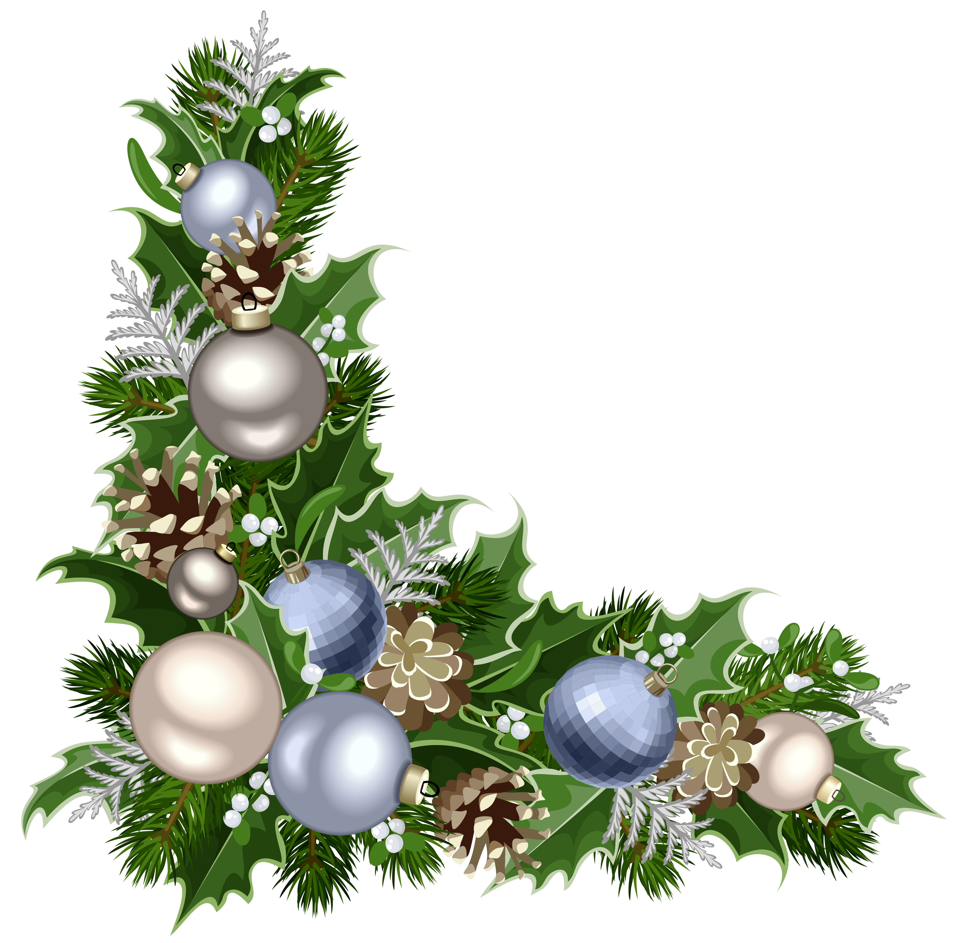 image stock Christmas Deco Corner with Decorations PNG Picture
