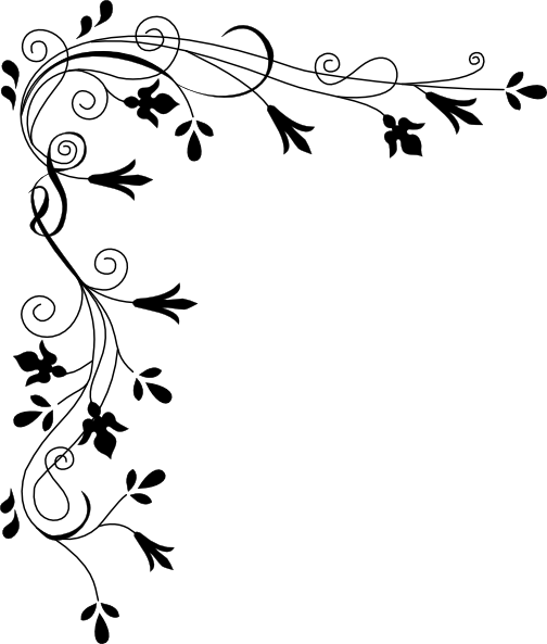 banner black and white download Decorative Plant Page Corner Clip Art At Clker Com Vector Clip Art