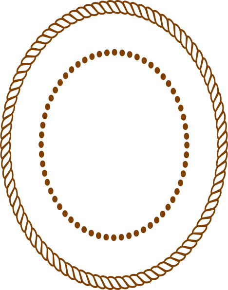 graphic royalty free download Oval frame clip art. Drawing rope border